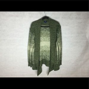 Indigo Green Sweater, Drapes Nicely